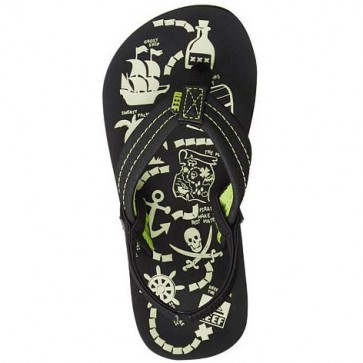 Reef Youth Ahi Glow Sandals - Green Glow