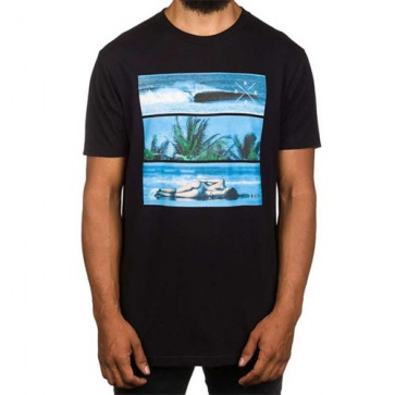 Reef Tri Bar T-Shirt - Black