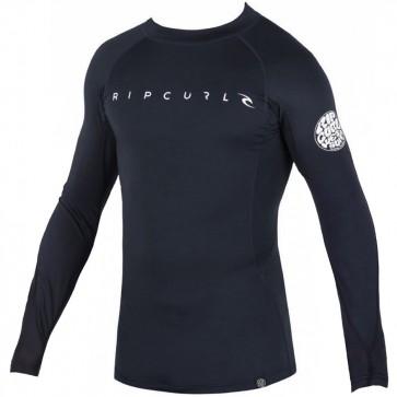 Rip Curl Wetsuits Dawn Patrol Long Sleeve Rash Guard - Black