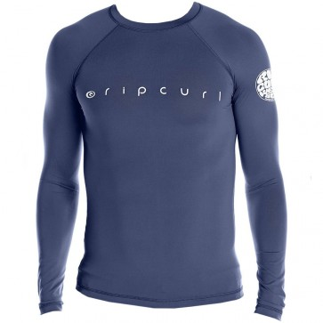 Rip Curl Wetsuits Dawn Patrol Long Sleeve Rash Guard - Navy