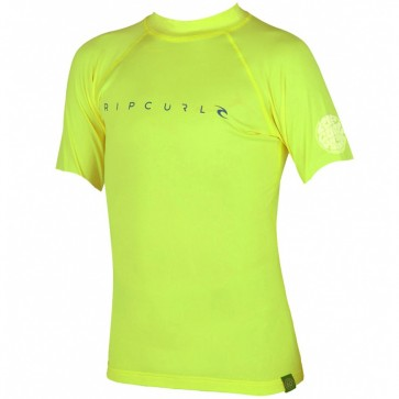 Rip Curl Wetsuits Youth Dawn Patrol Rash Guard - Lime