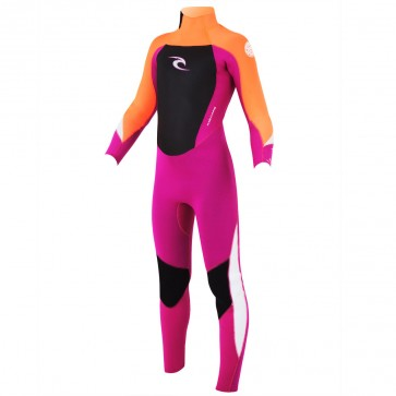 Rip Curl Youth Dawn Patrol 3/2 GB Back Zip Wetsuit - Peach