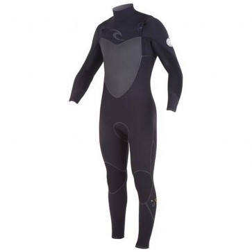 Rip Curl Flash Bomb Plus 3/2 Chest Zip Wetsuit - Black
