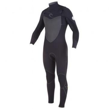 Rip Curl Flash Bomb Plus 4/3 Chest Zip Wetsuit - Black