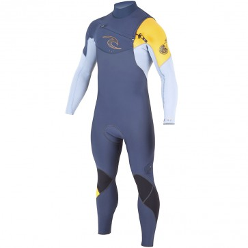 Rip Curl E-Bomb 3/2 Chest Zip Wetsuit - Slate