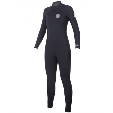 Rip Curl Women's Dawn Patrol 4/3 Back Zip Wetsuit - Black