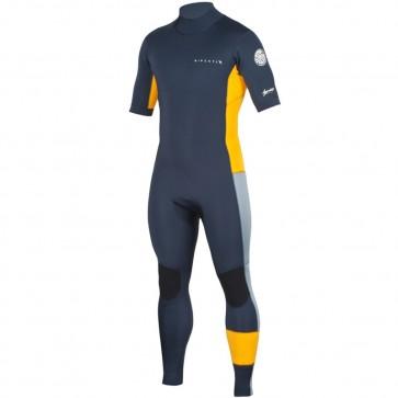 Rip Curl Aggrolite 2mm Short Sleeve Back Zip Wetsuit - Slate