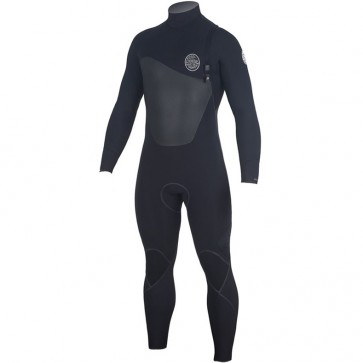 Rip Curl Flash Bomb Plus 4/3 Zip Free Wetsuit - Black