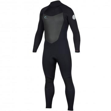Rip Curl Dawn Patrol 3/2 Back Zip Wetsuit - Black