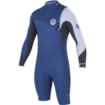 Rip Curl E-Bomb Pro Long Sleeve Zip Free Spring Suit - Navy