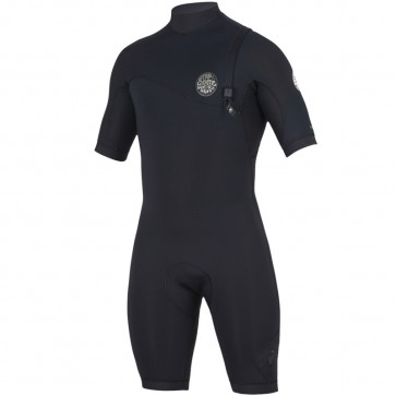 Rip Curl E-Bomb 2mm Short Sleeve Zip Free Spring Suit - Black