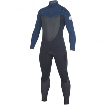 Rip Curl Flash Bomb 4/3 Chest Zip Wetsuit - Navy