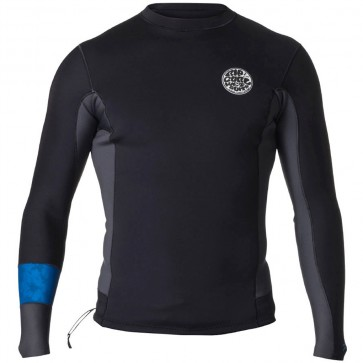 Rip Curl Wetsuits Aggrolite 1.5mm Long Sleeve Jacket - Black