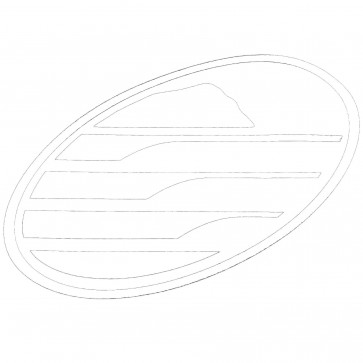 Cleanline Surf Big Rock Oval Sticker - White
