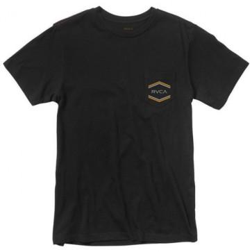 RVCA Double Hex Pocket T-Shirt - Black
