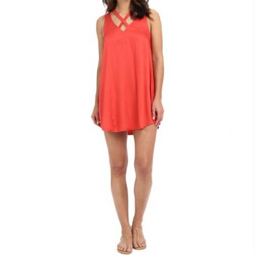RVCA Women's Visions Dress - Spiced Coral