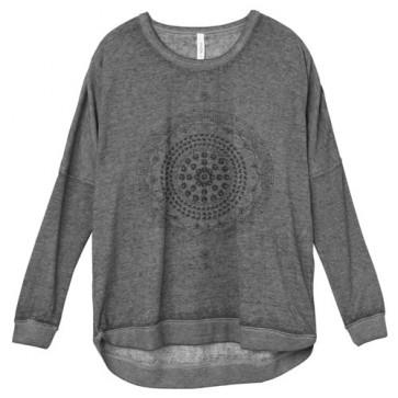 RVCA Women's Mort Mandala Long Sleeve Top - Athletic Grey