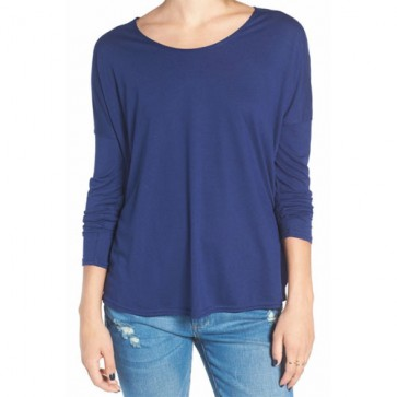 RVCA Women's Sutherland Long Sleeve Top - Ink Blue