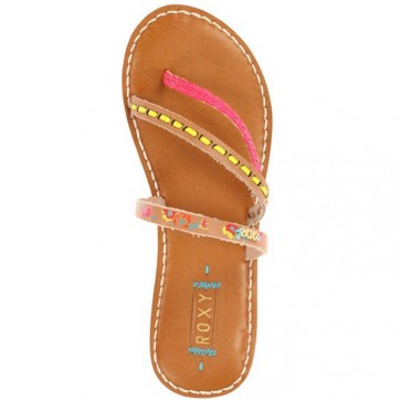 Roxy Women's Mardi Gras Sandals - Tan/Crazy Pink