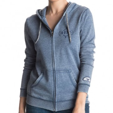 Roxy Women's Groovy Palm C Zip-Up Hoodie - True Navy