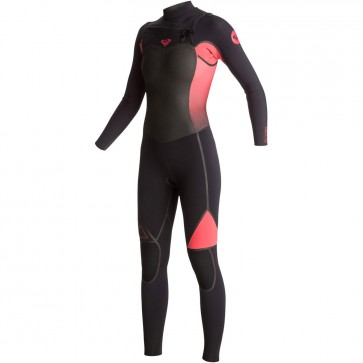 Roxy Women's Syncro Plus 4/3 Chest Zip Wetsuit - Paradise Pink