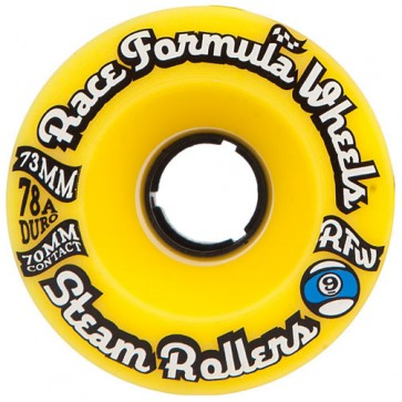 Sector 9 73mm Steam Rollers Wheels - Yellow