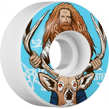 Bones 52mm STF Pro Haslam Broncanus Wheels - White