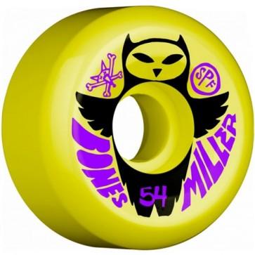 Bones 54mm SPF Pro Miller Owl Wheels - Yellow