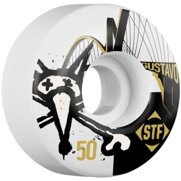 Bones 50mm STF Pro Gustavo Bridge Wheels - White