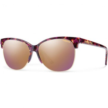 Smith Women's Rebel Sunglasses - Flecked Mulberry Tortoise/Rose Gold Mirror