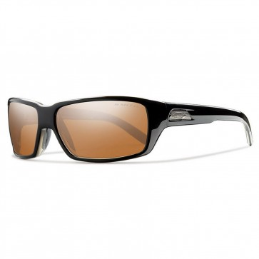 Smith Backdrop Polarized Sunglasses - Black/Techlite Copper Mirror