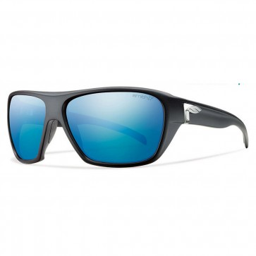 Smith Chief Polarized Sunglasses - Matte Black/Chromapop Blue Mirror