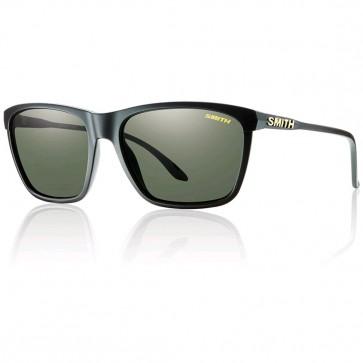 Smith Delano Polarized Sunglasses - Matte Black/Grey Green