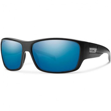 Smith Frontman Polarized Sunglasses - Matte Black/Chromapop Blue Mirror