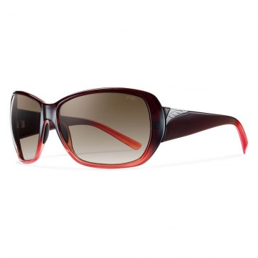 Smith Women's Hemline Sunglasses - Black Cherry Fade/Brown Gradient
