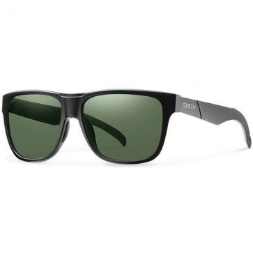 Smith Lowdown Polarized Sunglasses - Matte Black/Chromapop Grey Green