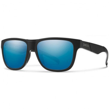 Smith Lowdown Slim Polarized Sunglasses - Matte Black/Salty Crew/Chromapop Blue Mirror