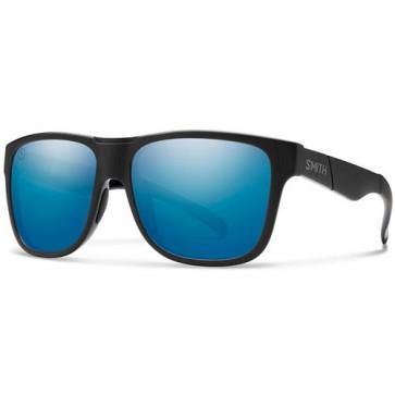 Smith Lowdown XL Polarized Sunglasses - Matte Black/Salty Crew/Chromapop Blue Mirror