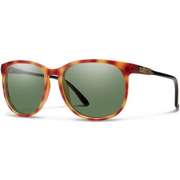 Smith Women's Mt. Shasta Polarized Sunglasses - Matte Honey Tortoise/ChromaPop Grey Green