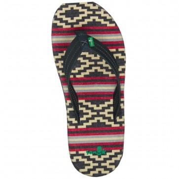 Sanuk Planer TX Sandals - Gaucho Blanket Black Red