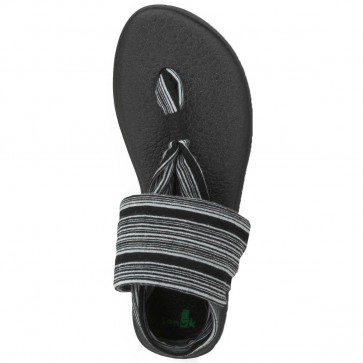 Sanuk Women's Yoga Sling 2 Sandals - Black/White