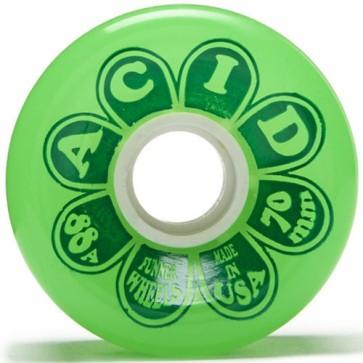 Acid Chemical Co. 70mm Flower Power Wheels - Green