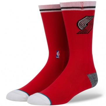 Stance Blazers Arena Logo Socks - Red
