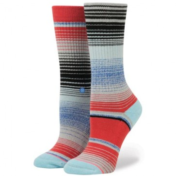Stance Women's Ranchero Crew Socks - Light Blue