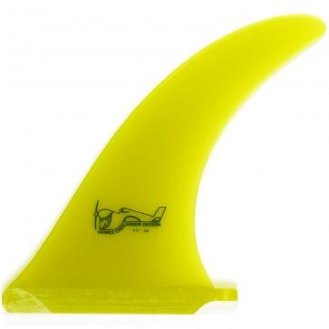 True Ames Fins 8'' Greenough 4A Fin - Yellow