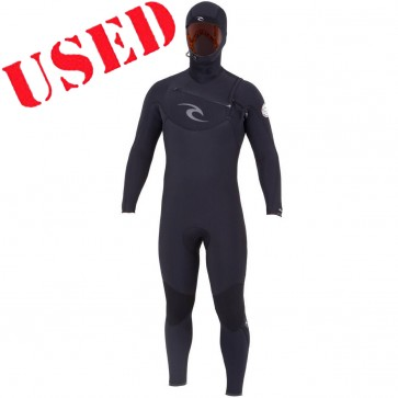 USED Rip Curl E-Bomb 5.5/4.5 Hooded CZ Wetsuit - Size L