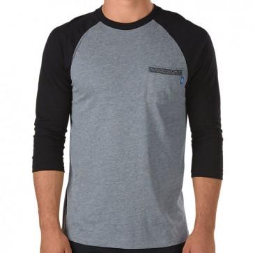 Vans Sapling Baseball Shirt - Heather Grey/Black