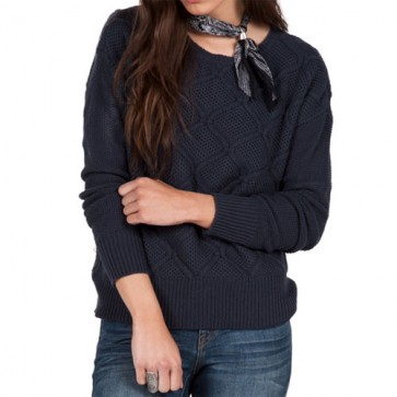 Volcom Women's Chained Down Sweater - Dark Navy