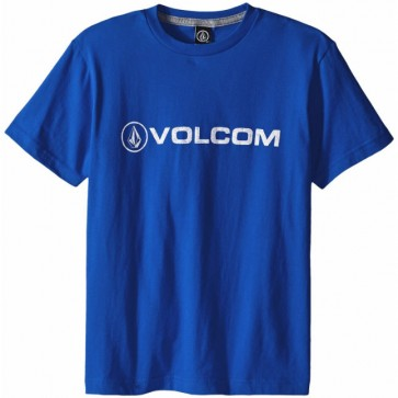 Volcom Youth Euro Pencil T-Shirt - Estate Blue