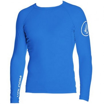 Volcom Solid Long Sleeve Rash Guard - Baja Indigo